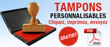 Tampons personnablisables VL+